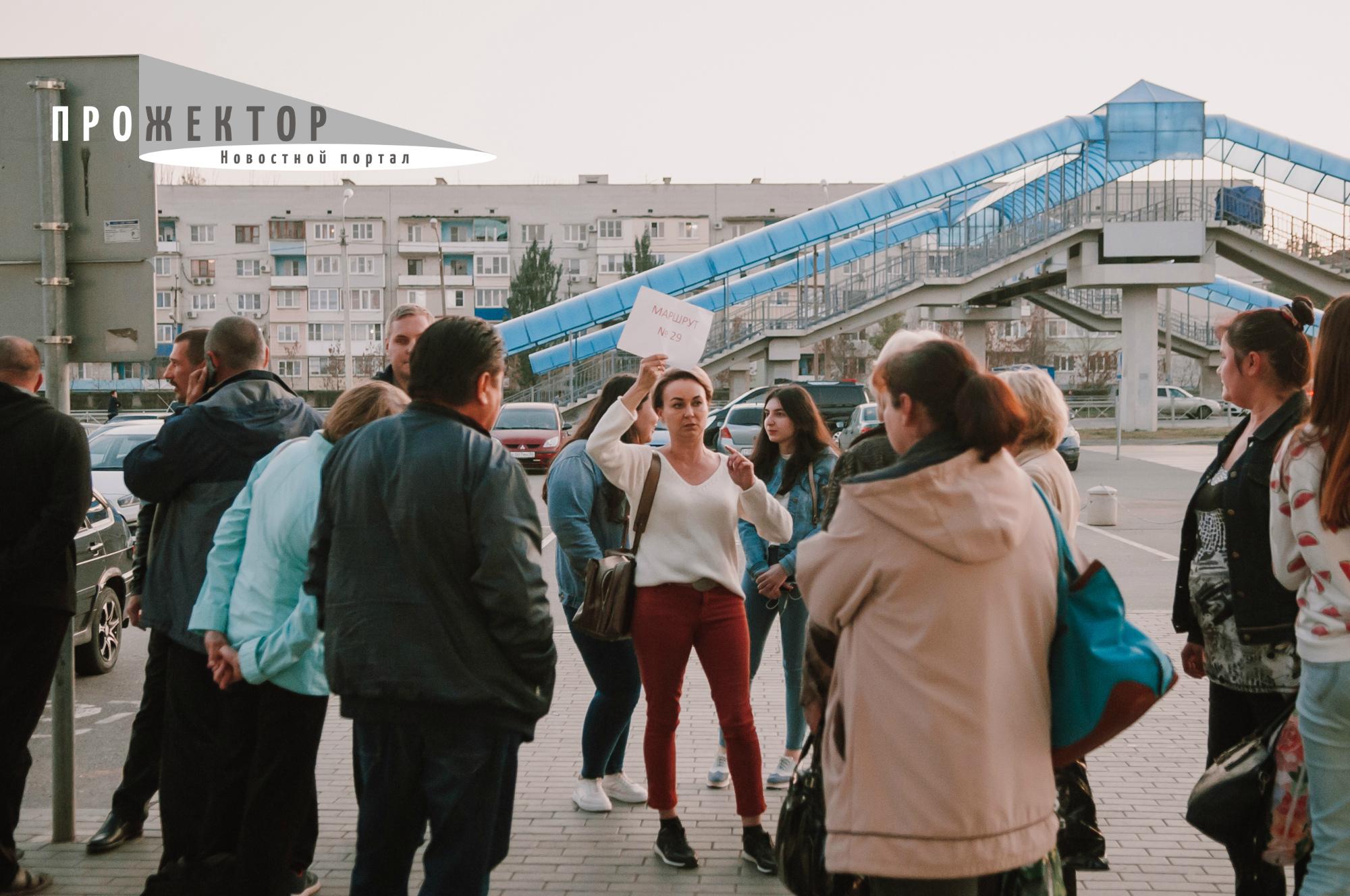 В правобережной Астрахани транспортная катастрофа. Люди вышли на улицы