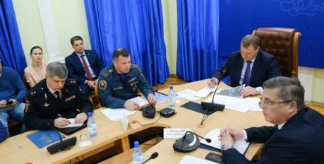 Игорь Бабушкин собрал рабочее совещание, посвящённое теме астраханских пожаров