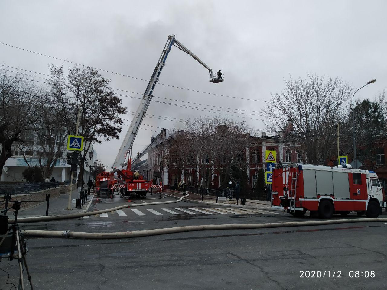 Поджог — одна из версий пожара на ул.Советской в Астрахани