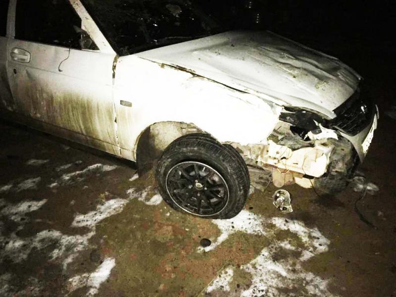 При опрокидывании автомобиля пострадала астраханка
