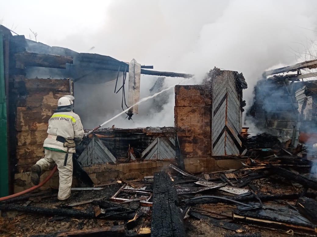 В Астраханской области на пожаре сгорел 60-летний мужчина